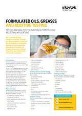Formulated Oils Testing Flyer