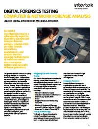 Digital Forensics Testing Fact Sheet