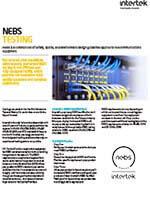 NEBS Compliance Testing
