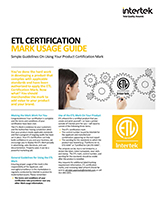 ETL Mark Usage Guide