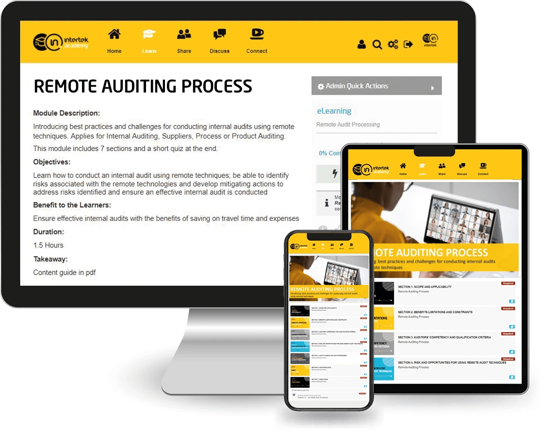 Remote Auditing Process Training